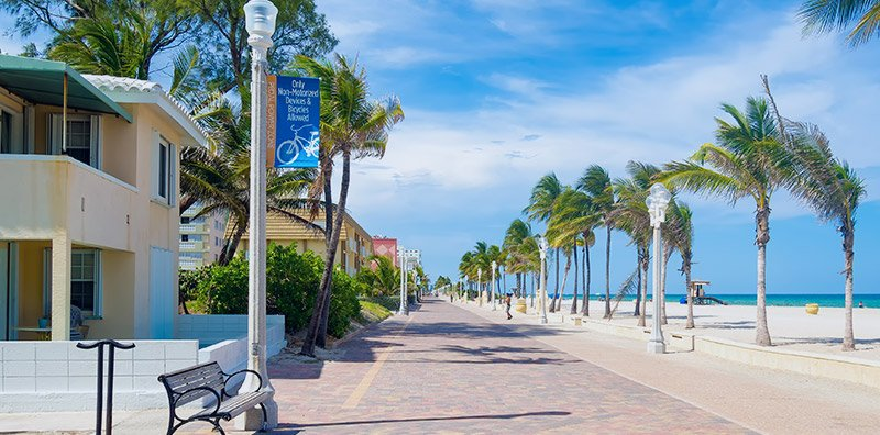 Deerfield Beach Florida boardwalk